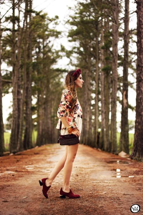 FashionCoolture - 24.09.2013 look du jour Vateno floral blazer (4)