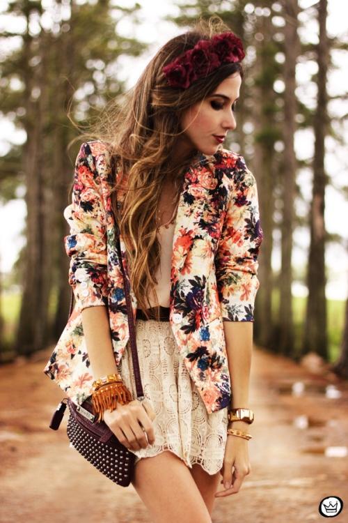 FashionCoolture - 24.09.2013 look du jour Vateno floral blazer (6)
