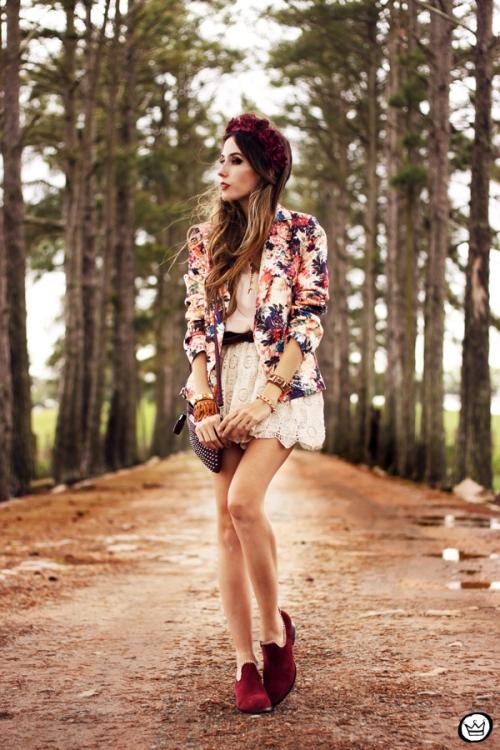 FashionCoolture - 24.09.2013 look du jour Vateno floral blazer (7)