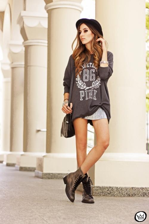 FashionCoolture - 09.10.2013 look du jour VS pink jumper Victorias Secrets (6)
