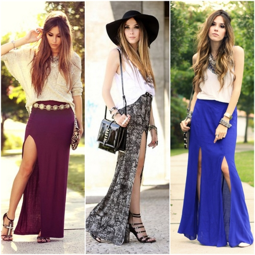 FashionCoolture outfit inspiration long skirt