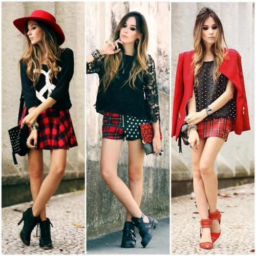 FashionCoolture - top 3 plaid