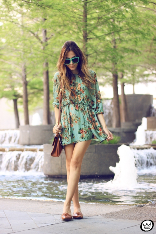 FashionCoolture - 30.04.2014 look du jour Antix floral dress  (1)
