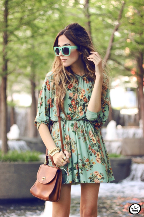 FashionCoolture - 30.04.2014 look du jour Antix floral dress  (2)