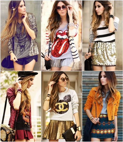 FashionCoolture sequins looks