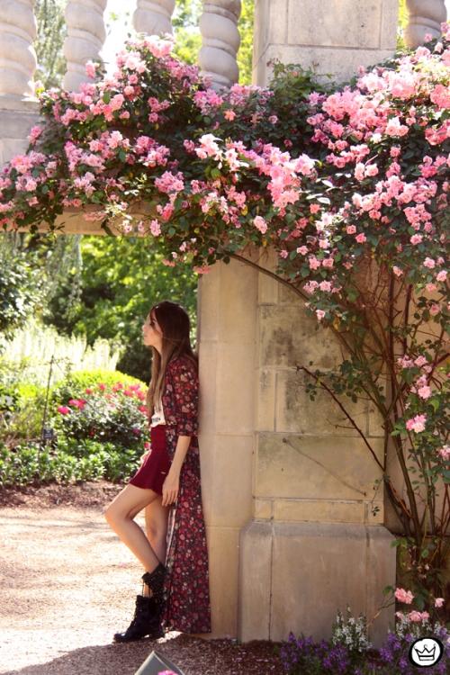 FashionCoolture - 05.05.2014 look du jour H&M floral burgundy skirt outfit (1) ..