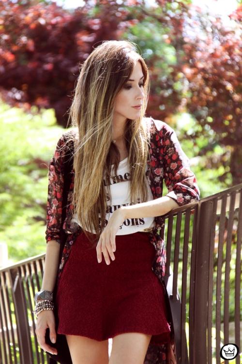 FashionCoolture - 05.05.2014 look du jour H&M floral burgundy skirt outfit (4)
