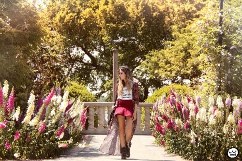 FashionCoolture - 05.05.2014 look du jour H&M floral burgundy skirt outfit (5)