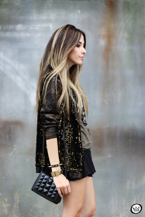 FashionCoolture - 06.05.2014 look du  jour Dafiti black studded rocker (2)