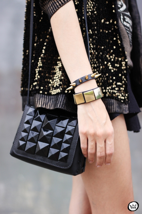 FashionCoolture - 06.05.2014 look du  jour Dafiti black studded rocker (4)