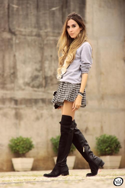 FashionCoolture - 07.05.2014 look du jour Ohkei jumper pied de poule over knee boots (3)