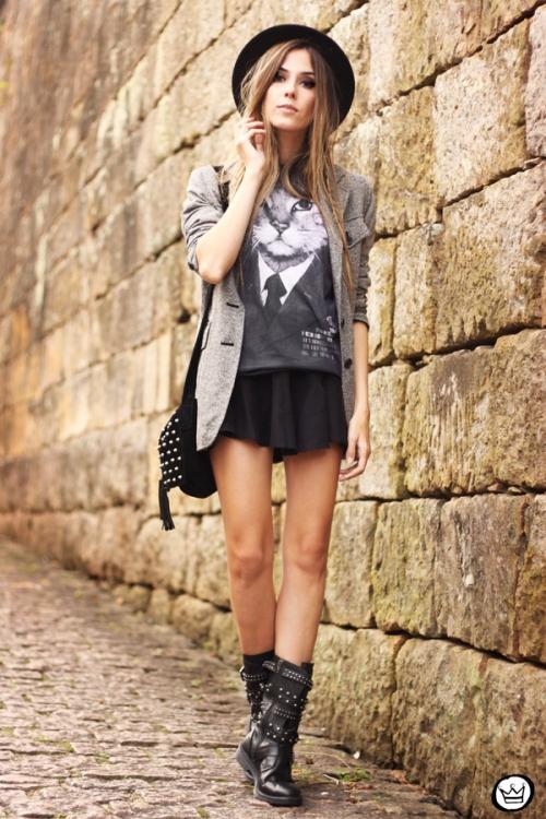 FashionCoolture - 10.05.2014 look du jour studedd boots hat outfit (1)