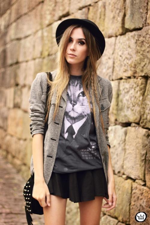 FashionCoolture - 10.05.2014 look du jour studedd boots hat outfit (2)