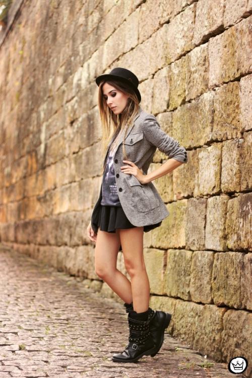 FashionCoolture - 10.05.2014 look du jour studedd boots hat outfit (3)