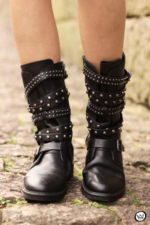 FashionCoolture - 10.05.2014 look du jour studedd boots hat outfit (4)
