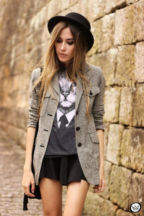 FashionCoolture - 10.05.2014 look du jour studedd boots hat outfit (5)