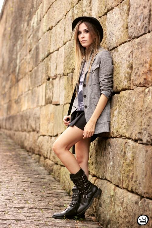 FashionCoolture - 10.05.2014 look du jour studedd boots hat outfit (6)