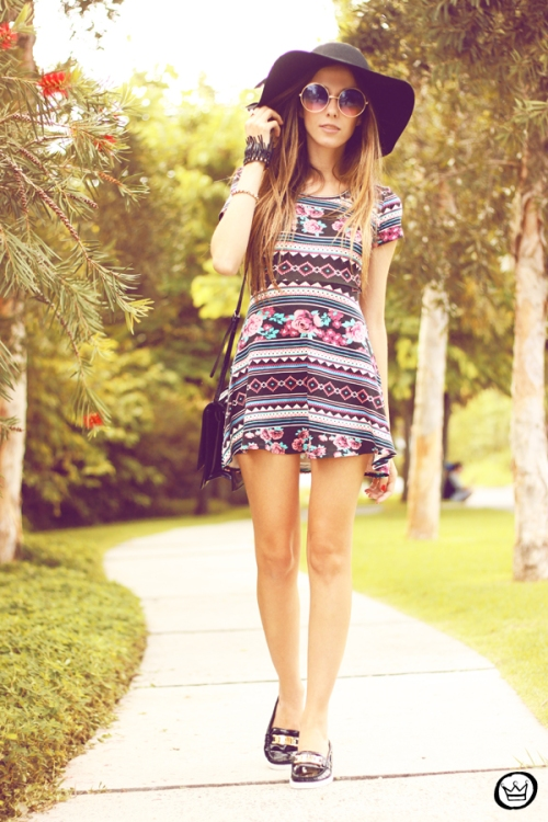 FashionCoolture - 11.05.2014 look du jour ethnic printed dress  (3)