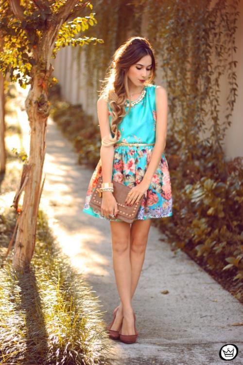 FashionCoolture - 12.05.2014 look du jour iloveflats floral dress (1)