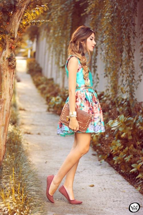 FashionCoolture - 12.05.2014 look du jour iloveflats floral dress (7)