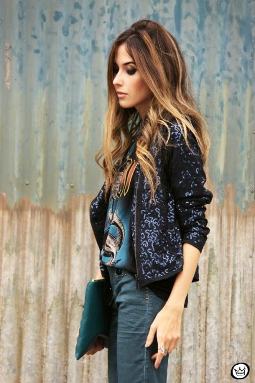FashionCoolture - 21.05.2014 look du jour Dafiti flare jeans sequined jacket (2)