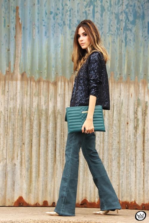 FashionCoolture - 21.05.2014 look du jour Dafiti flare jeans sequined jacket (4)