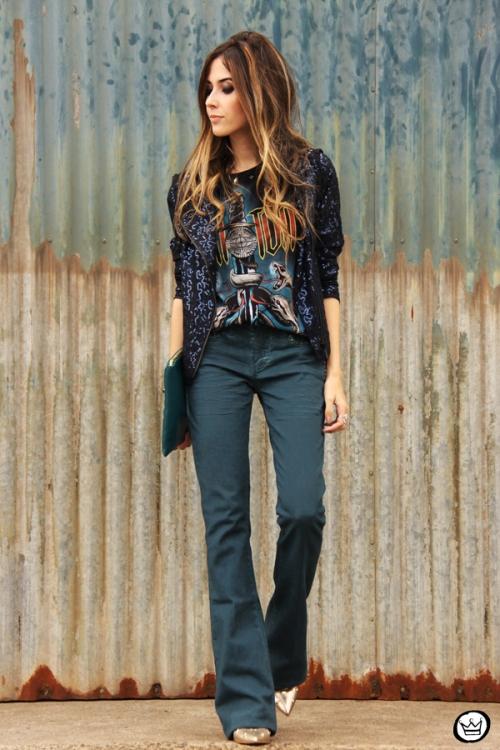 FashionCoolture - 21.05.2014 look du jour Dafiti flare jeans sequined jacket (6)