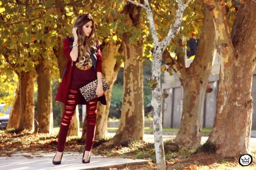 FashionCoolture - 26.05.2014 look du jour Displicent burgundy jeans rocker (3)