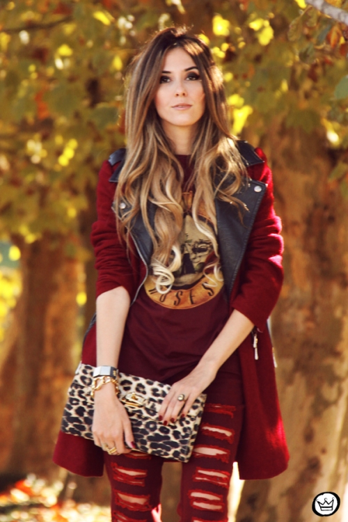 FashionCoolture - 26.05.2014 look du jour Displicent burgundy jeans rocker (4)