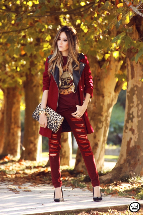 FashionCoolture - 26.05.2014 look du jour Displicent burgundy jeans rocker (7)