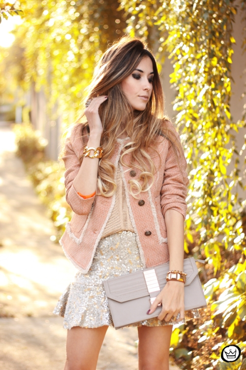 FashionCoolture - 27.05.2014 look du jour Dafiti girly outfit sequined skirt (2)