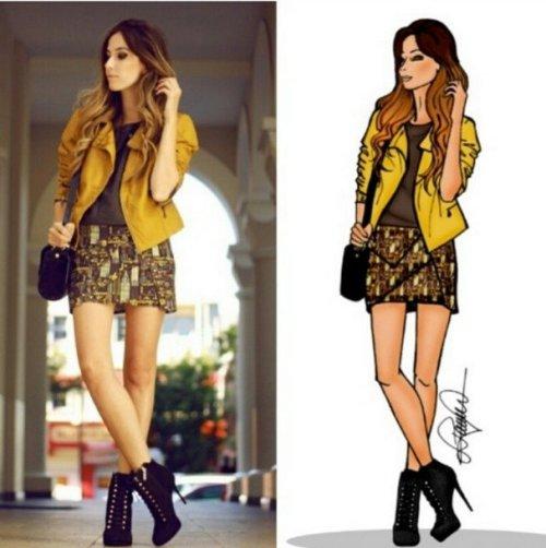 FashionCoolture drawing fashion illustration