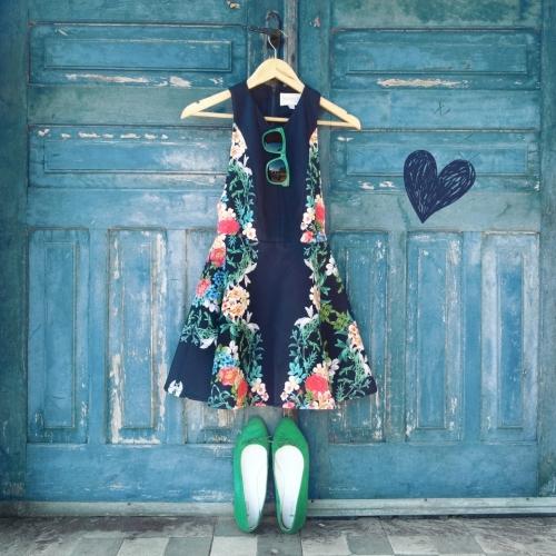 FashionCoolture - Instagram floral dress