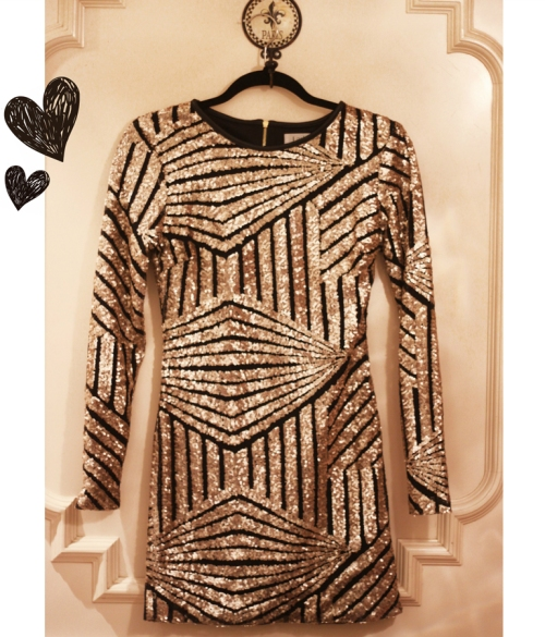 FashionCoolture sequined dress