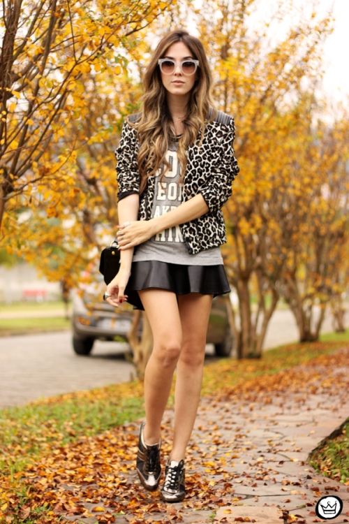 FashionCoolture - 09.06.2014 look du jour Amaro leopard print sneakers (1)