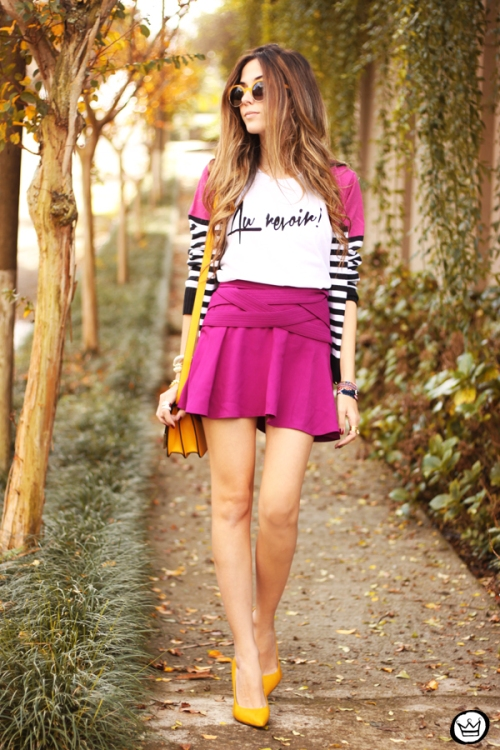 FashionCoolture - 10.06.2014 look du jour Dafiti pink skirt yellow shoes (4)