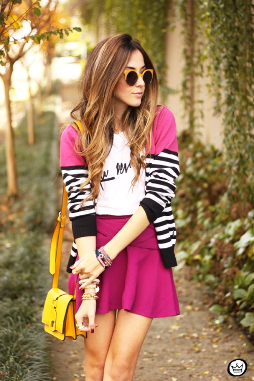 FashionCoolture - 10.06.2014 look du jour Dafiti pink skirt yellow shoes (6)