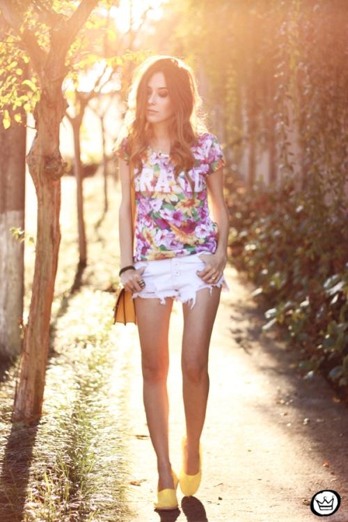 FashionCoolture - 14.06.2014 look du jour tshirt Brasil (1)