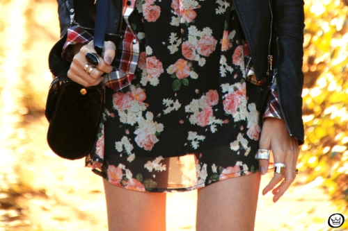 FashionCoolture - 20.06.2014 look du jour Displicent floral plaid (4)