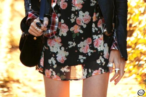 FashionCoolture - 20.06.2014 look du jour Displicent floral plaid (4)