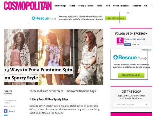 FashionCoolture Cosmopolitan Sporty Style .
