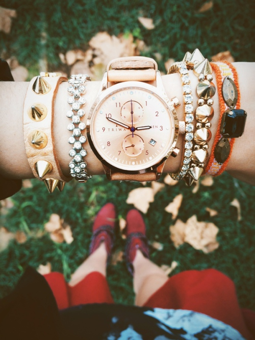 FashionCoolture - Instagram watch arm party