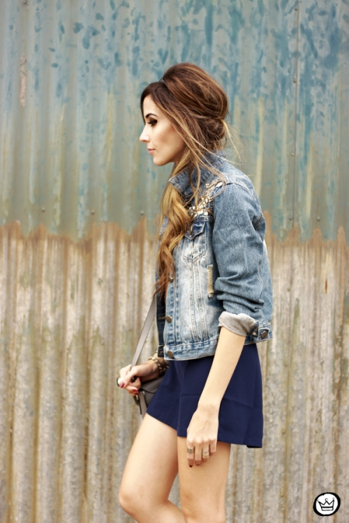 FashionCoolture - 08.07.2014 look du jour Amaro jeans denim jacket (2)