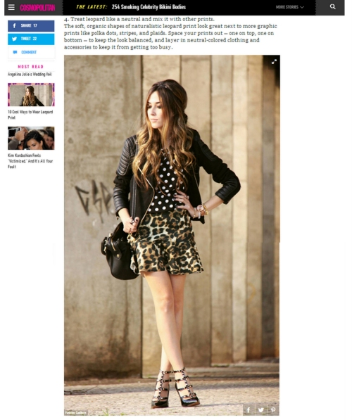 FashionCoolture Cosmopolitan leopard