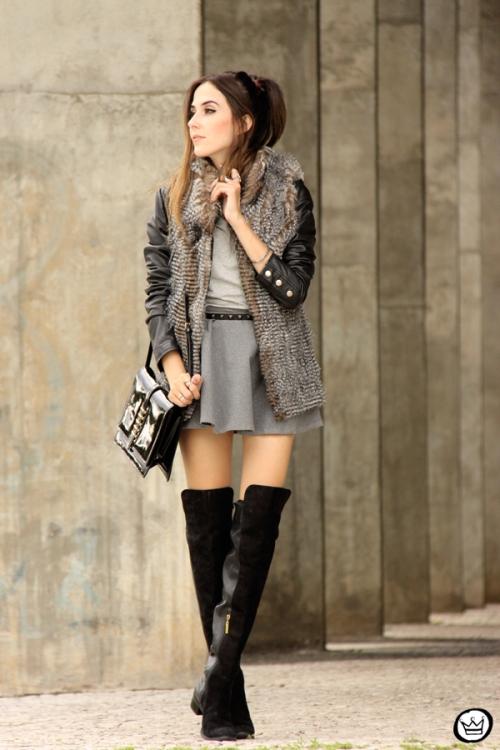 FashionCoolture - 24.02.2015 look du jour Displicent fake fur vest (1)