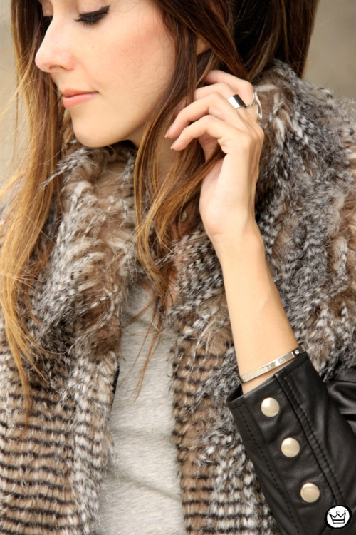 FashionCoolture - 24.02.2015 look du jour Displicent fake fur vest (2)