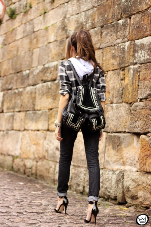 FashionCoolture - 14.03.2015 look du jour black plaid denim (3)