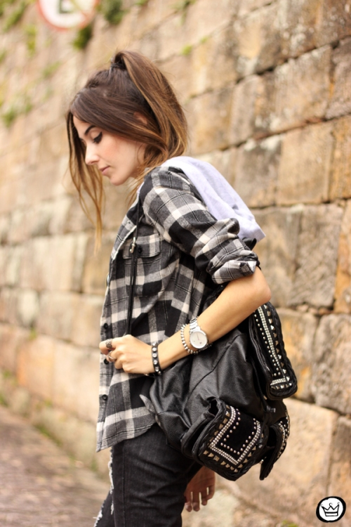 FashionCoolture - 14.03.2015 look du jour black plaid denim (5)