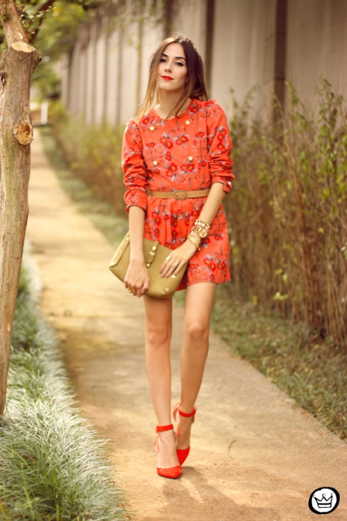 FashionCoolture - 25.03.2015 look du jour Amanda Monteiro floral dress red (6)