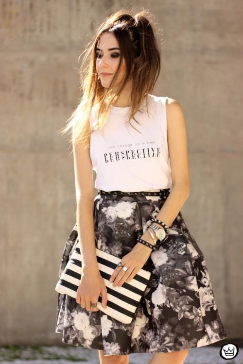 FashionCoolture - 04.04.2015 look du jour midi skirt floral blackandwhite (5)